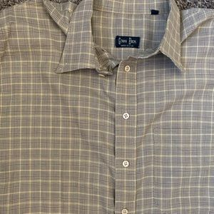Gitman Bros Vintage houndstooth plaid Oxford Shirt